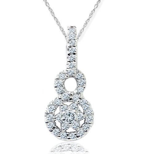 1/2ct SI Diamond Pendant 14K White Gold (G/H, SI2-I1)