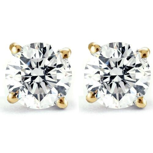 3/4ct Diamond Studs 14K Yellow Gold (G/H, I1-I2)