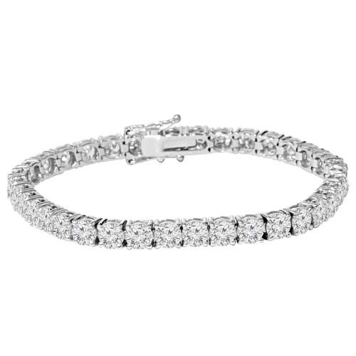 "9 ct Genuine Diamond Tennis Bracelet 7"" 14K White Gold (J-K, I2-I3)"