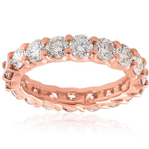 3cttw Diamond Eternity Ring 14k Rose Gold U Prong Womens Wedding Band (H I 43b79b453