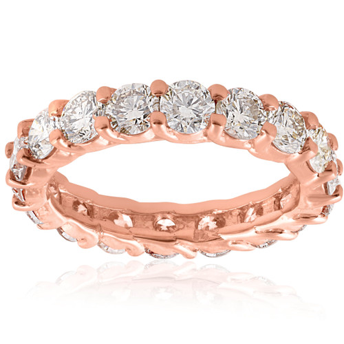 3cttw Diamond Eternity Ring 14k Rose Gold U Prong Womens Wedding Band (H/I, I1-I2)