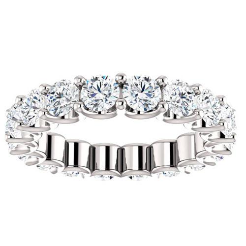 3 1/2 cttw Diamond Eternity Ring U Prong 14k White Gold Wedding Band (I/J, I2-I3)