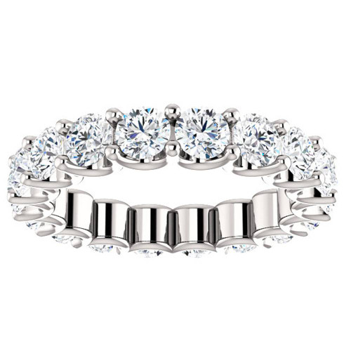 3 1/2 cttw Diamond Eternity Ring U Prong 14k White Gold Wedding Band (H-I, I1)