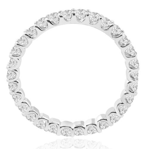 1 1/2 cttw Diamond Eternity Ring U Prong 14k White Gold Wedding Band (H-I, I1)