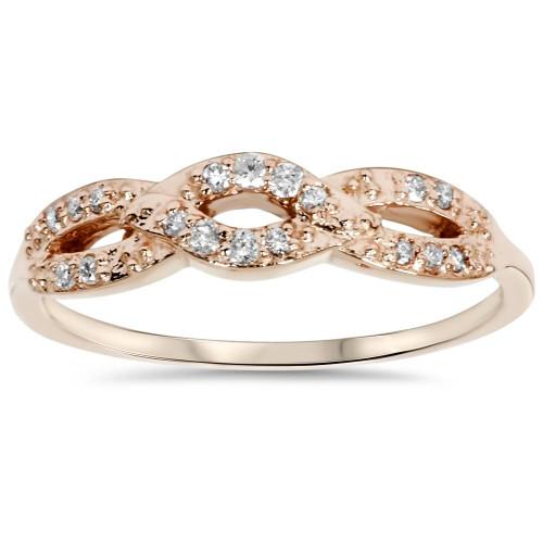 1/5ct Diamond Infinity Ring 14k Rose Gold (H/I, I2-I3)
