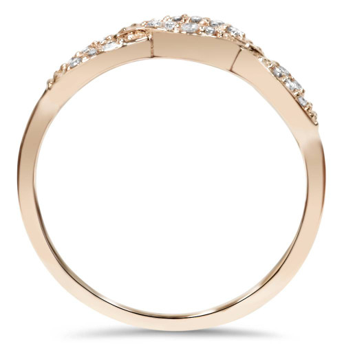 1/5ct Diamond Infinity Ring 14k Rose Gold (H/I, I2-I3)