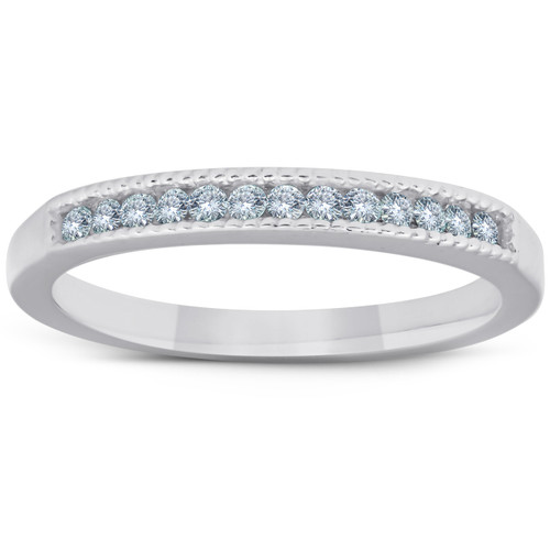 1/4ct Diamond Channel Set Ring 14K White Gold (I-J, I1-I2)