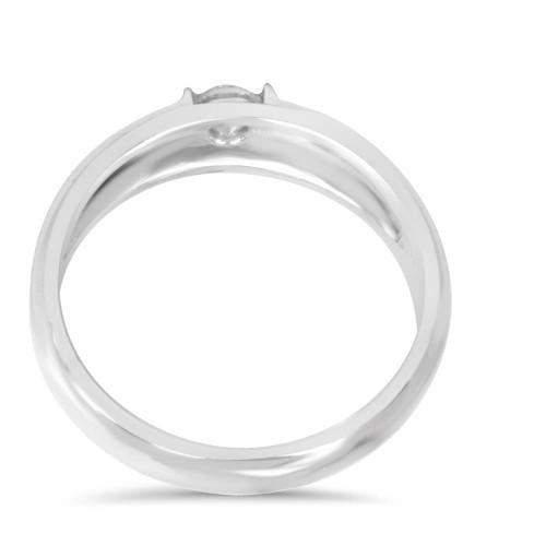 1/6CT Mens Diamond Solitaire Ring 10K White Gold (H/I, I1-I2)