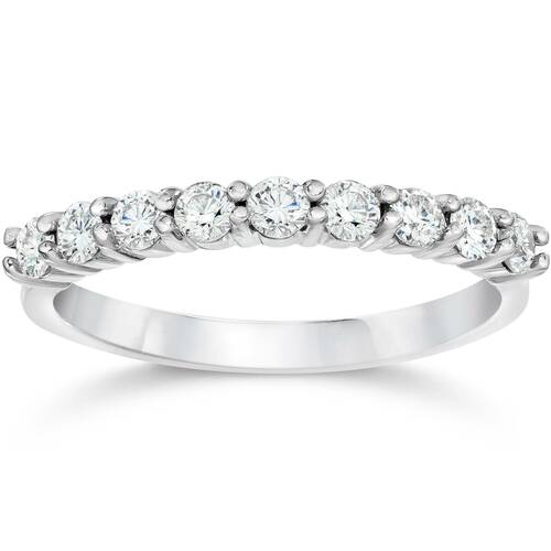 1 Carat Diamond Ring 14K White Gold (H/I, I1-I2)