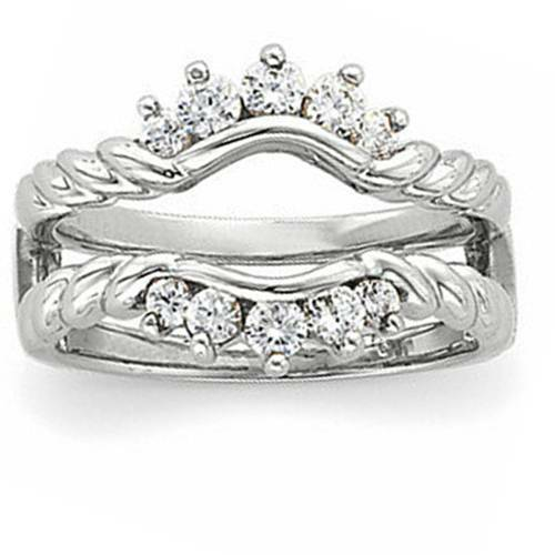 5/8ct Diamond Ring Guard Enhancer 14K White Gold (G/H, I1-I2)