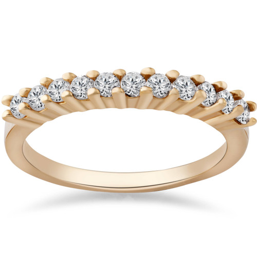 1/2ct Diamond Wedding Ring 14K Yellow Gold Anniversary (G/H, I1)