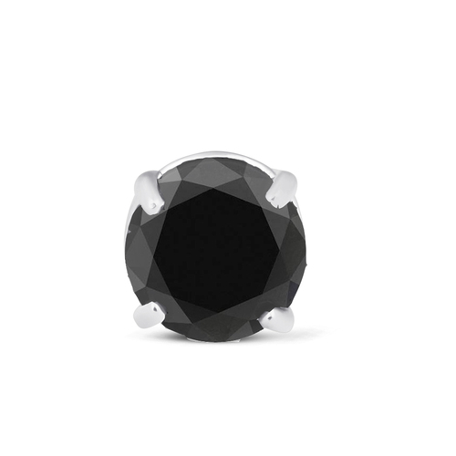 1ct Single Diamond Stud Earring 14K White Gold (Black, AAA)