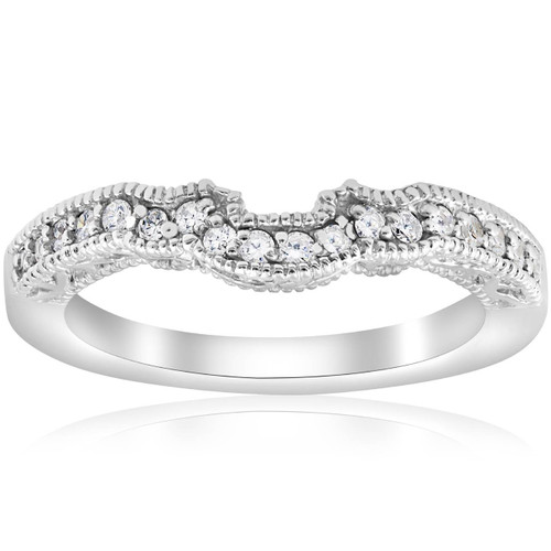 1/5ct 14k White Gold Vintage Wedding Engagement Ring Enhancer (G/H, I1)