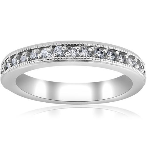 1/3ct Diamond Wedding Ring 14K White Gold (G/H, I1)