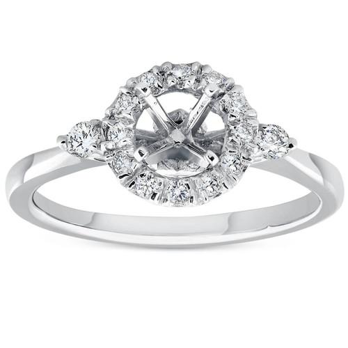 3/8ct Diamond Engagement Setting 14K White Gold (G/H, I1)
