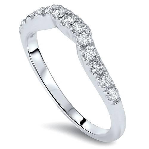 3/8ct Diamond Wedding Anniversary Curve Guard Ring Size 6 (G/H, VS)