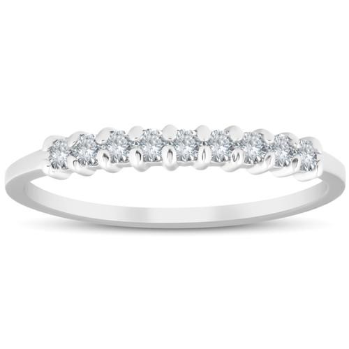 1/4CT Diamond Wedding Ring 14K White Gold (H/I, I2-I3)