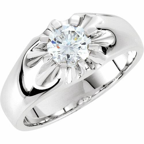 1 1/2ct Solitaire Diamond Mens Wedding Ring 10k White or Yellow Gold ((G-H), SI(1)-SI(2))