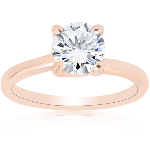 1ct Diamond Solitaire Engagement Ring 14k Rose Gold ((G-H), SI(1)-SI(2))