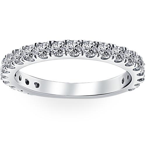 1 ct Diamond Wedding Ring 14k White Gold Womens Anniversary Stackable Jewelry (G-H, I1-I2)