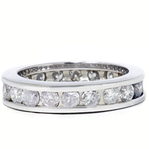 2ct Channel Set Diamond Eternity Ring 14K White Gold (G/H, I1)