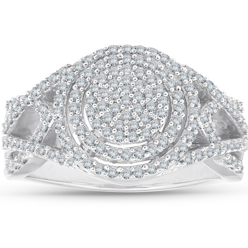 1/2-ct. T.W. Diamond Ring 10K White Gold (I/J, I2-I3)