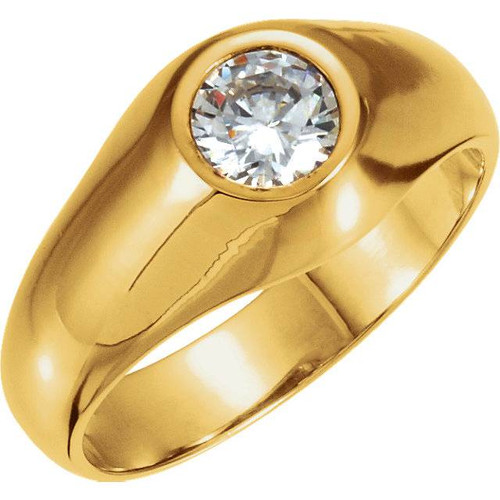 1.50CT Mens Diamond Solitaire Ring 14K Yellow Gold (G/H, I1)