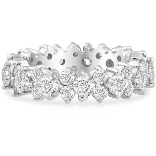3 1/4ct Diamond Eternity Ring Band 14K White Gold (H/I, I2-I3)