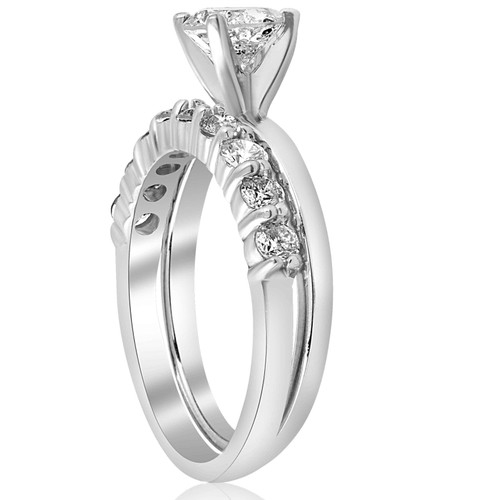 1 1/10ct Diamond Engagement Wedding Ring Solitaire Set 14k White Gold (H/I, I1-I2)