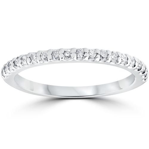 Diamond Wedding Ring 10k White Gold (H/I, I1-I2)
