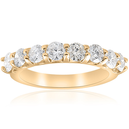 1 5/8ct U Prong Diamond Wedding Ring 14k Yellow Gold (H/I, I1-I2)