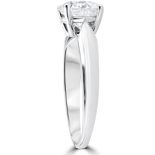 1 1/2ct Cushion Diamond Solitaire Engagement Ring 14k White Gold Enhanced ((G-H), I(1))