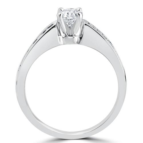 1 3/8CT Diamond Engagement Wedding Ring Set 14K White Gold (G-H, I1)