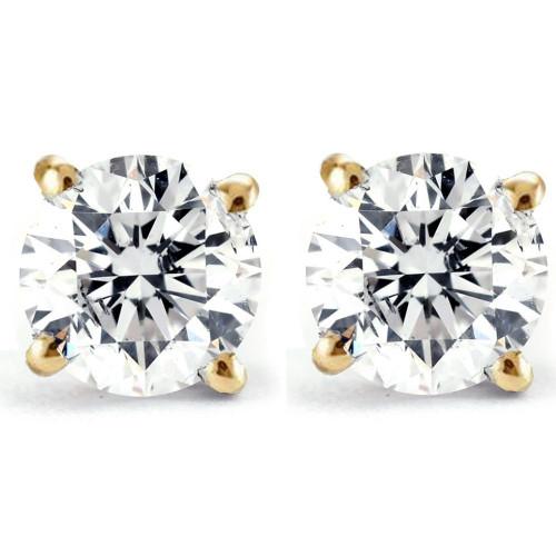 1/2ct Diamond Studs 14K Yellow Gold (G/H, I2)