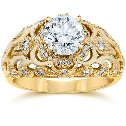 Emery .75Ct Vintage Diamond Antique Engagement 14K Yellow Gold (H/I, I1)