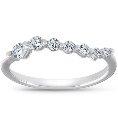 1/2ct Diamond Journey Ring 14K White Gold (G/H, SI2)