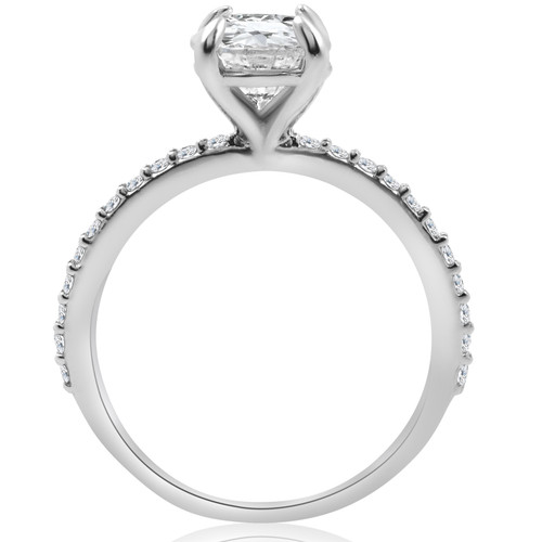 1 1/4 Ct TDW Diamond Round Solitaire Engagement Ring 14k White Gold ((G-H), SI(1)-SI(2))