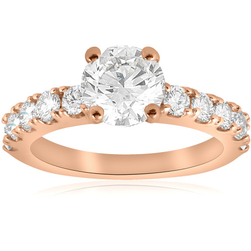 2 CT Diamond Engagement Ring 14k Rose Gold ((G-H), SI(1)-SI(2))
