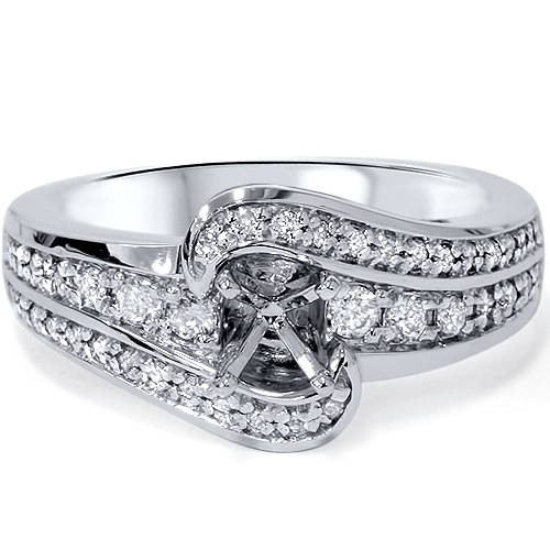 1/3ct Diamond Engagement Setting 14K White Gold (G/H, SI1-SI2)