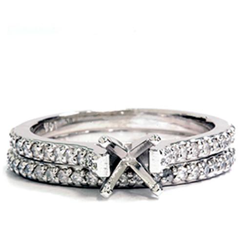 1/2ct Diamond Matching Engagement Wedding Set Setting (G/H, I1-I2)