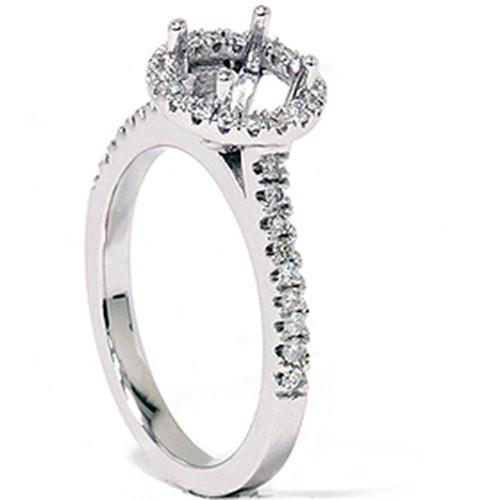 1/3ct Pave Diamond Engagement Semi Mount Ring 14K White Gold (G/H, I1)
