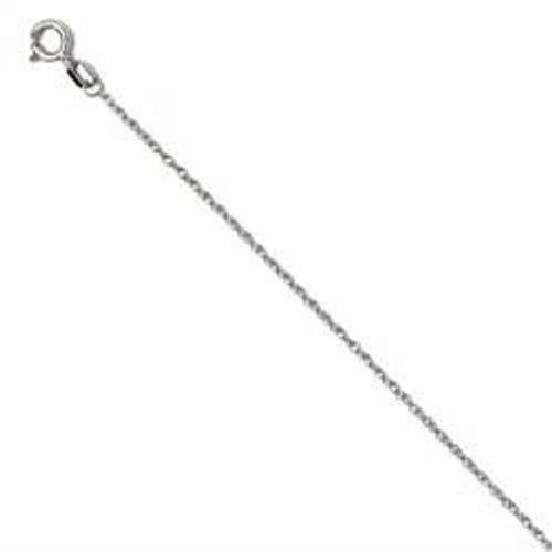 1ct 14K White Gold Fancy Diamond Cross Necklace (G/H, I1)