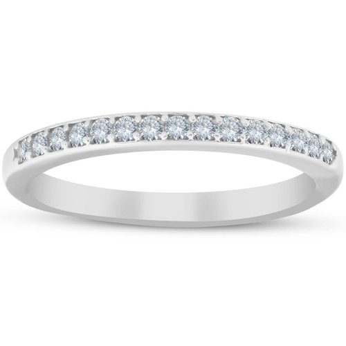 1/4ct Diamond Wedding Ring 10k White Gold (H/I, I1-I2)