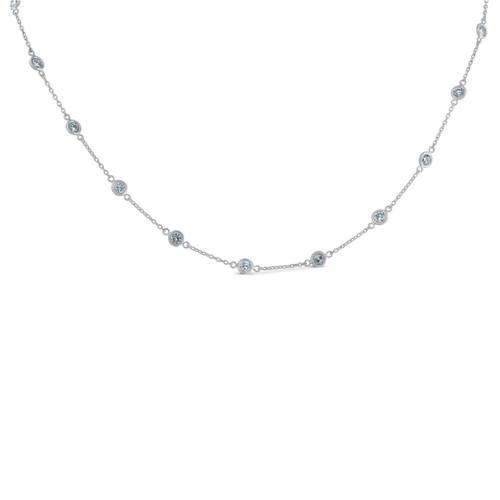 f1f192cfa9fc9 1 3/4 Ctw Diamond By The Yard Tennis Necklace 14K White Gold 18