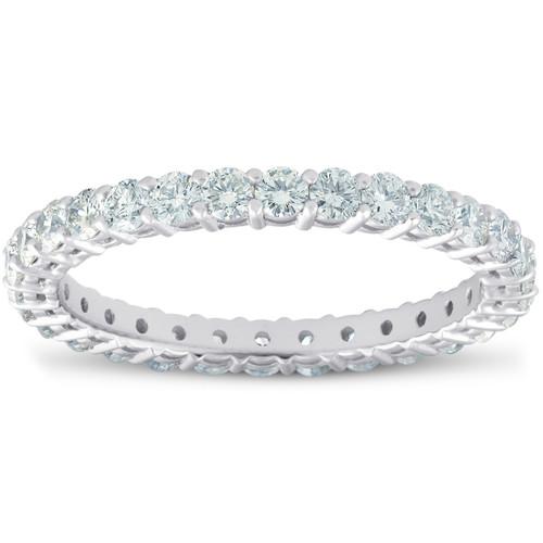 1ct Diamond Eternity Ring 14k White Gold ((G-H), SI(1)-SI(2))