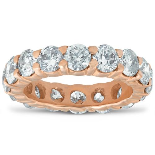 5 ct Diamond Eternity Ring 14k Rose Gold Womens Wedding Anniversary Band (I/J, I2-I3)