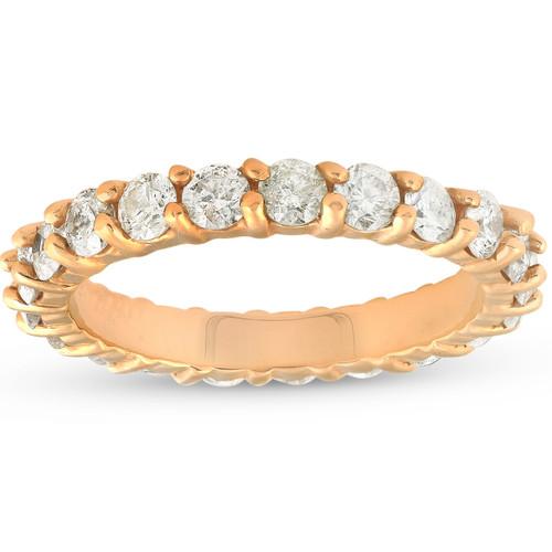 2ct Diamond Eternity Ring 14k Yellow Gold Womens Anniversary Band (I/J, I2-I3)