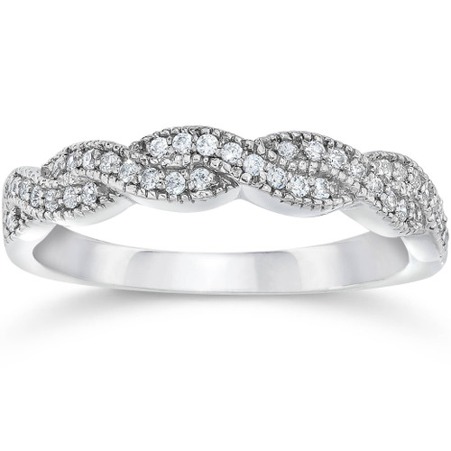 1/8ct Diamond Infinity Ring 14K White Gold (G/H, SI1-SI2)