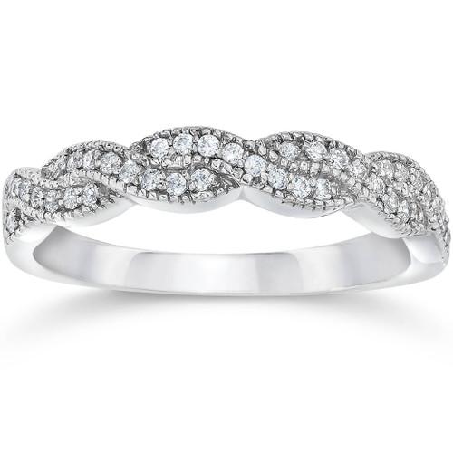 1/8ct Diamond Infinity Ring 14K White Gold (G/H, SI1-SI2)