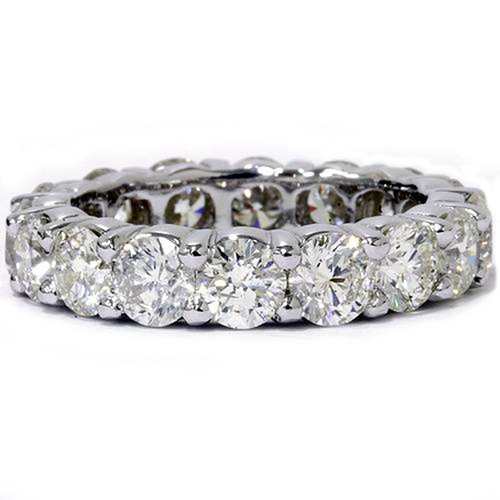 Platinum 5 Ct Diamond Eternity Ring Womens Wedding Band (G/H, I1-I2)